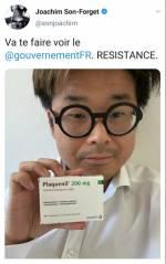 Capture d'écran d'un tweet de Joachim Son Forget publié fin mai
